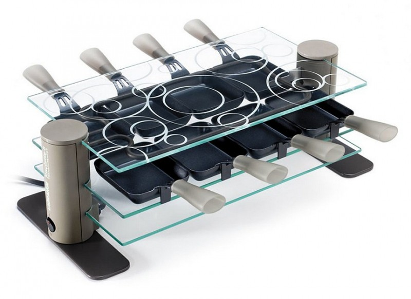 Design et contemporain l appareil à raclette transparence