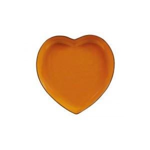 assiette coeur orange