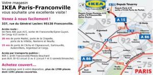 Plan acces Ikea Paris Nord Ouest Franconville