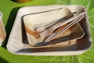 Vaisselle jetable en palmier